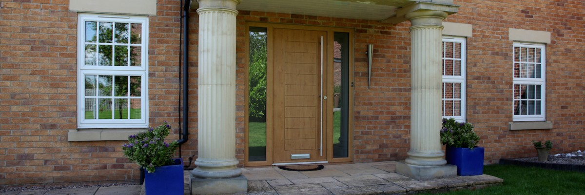 Light Oak Composite Front Door Part - 50: Bespoke Composite Doors With Integrated Side Panels Created By Composite  Doors Yorkshire.