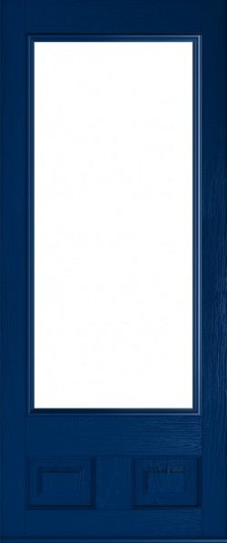 The Alnwick composite door in Blue.