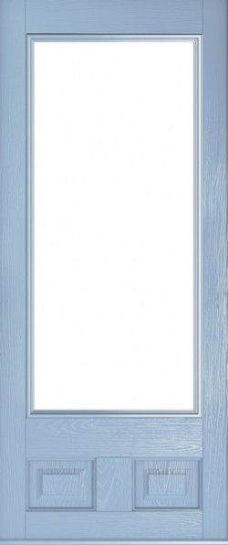 The Alnwick composite door in Duck Egg Blue.