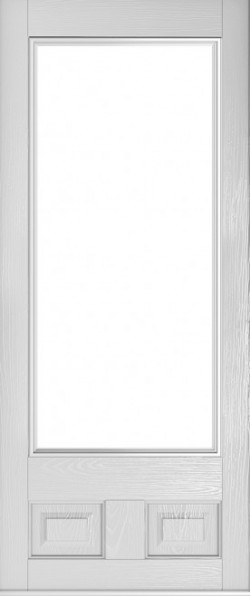 The Alnwick composite door in Foiled White.