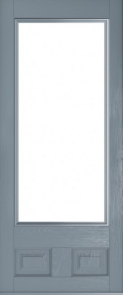 The Alnwick composite door in French Grey.