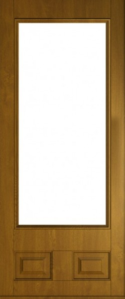 The Alnwick composite door in Golden Oak.