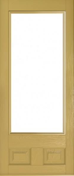 The Alnwick composite door in Golden Sand.
