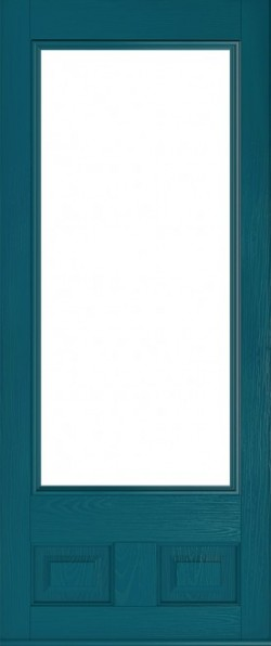 The Alnwick composite door in Peacock Blue.