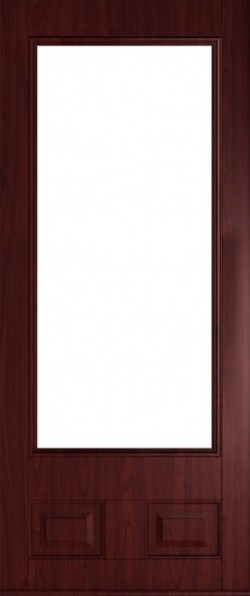 The Alnwick composite door in Rosewood.