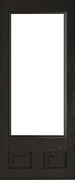 The Alnwick composite door in Schwarz Braun.