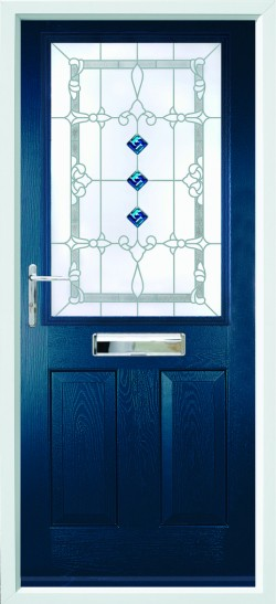 Beeston 1 composite door in Blue with CSB 3.1FG glass