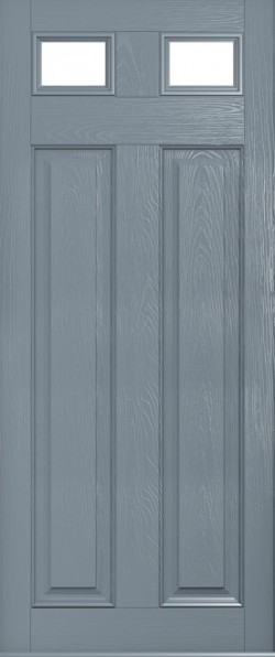 The Berkeley composite door in French Grey with glazed units.