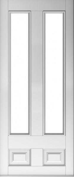 The Edinburgh composite door in White with glazed panels.