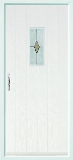 Flint 2 composite door in White with CTB181 glass.