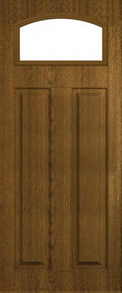 The London composite door in Walnut with glazed panel.