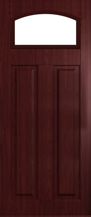 The London composite door in Rosewood with glazed panel.