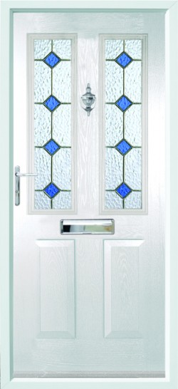 Ludlow 2 composite door in White with CTL 3.1 glass.
