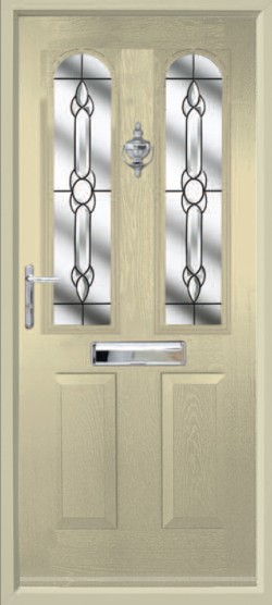 Nottingham composite door in Cream with CTB 19 glass.