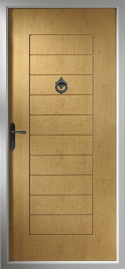 Windsor composite door in Irish Oak.