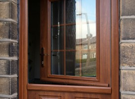 Beeston composite stable door in Golden Oak