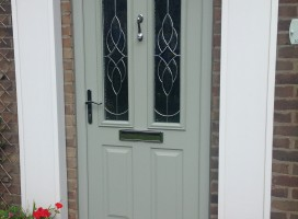 Ludlow Composite Door in Painswick with Elegance Glass, Salendine Nook