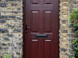 Tenby Solid composite door in Rosewood, Netherton