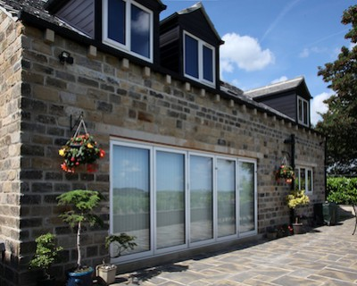 Aluminium bi-fold doors manufactured and installed by Composite Doors Yorkshire
